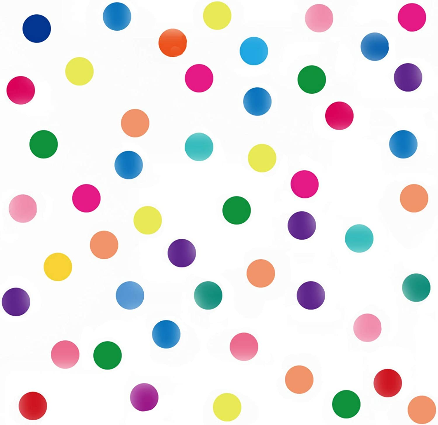 Maydahui Polka Dots Wall Decals(160 Dots)Colorful Round Dot Confetti Wall Stickers Rainbow Colors Circles Removable Vinyl Wall Decor for Bedroom Living Room Playroom Nursery