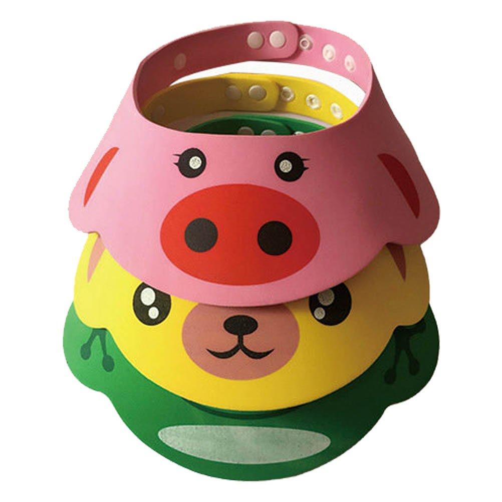 ARAUS Chapeau de Shampooing pour Enfant Chapeau de Douche Protéger Casquette Visière Chapeau pour bébé enfantpour Bébé Adjustable Baby 3 Piece 5340P10-3PC
