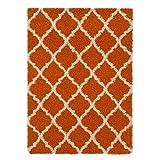 Cheap Ottomanson PLS2271-3X5 Area Rug, 3'3″ x 4'7″, Orange Trellis