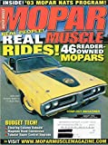 img - for Mopar Muscle August 2003 Magazine 46 READER-OWNED MOPARS Steering Column Rebuild THE EVOLUTION OF A STREET BRAWLER A 1973 Road Runner MAGNUM HEAD CONVERSION book / textbook / text book