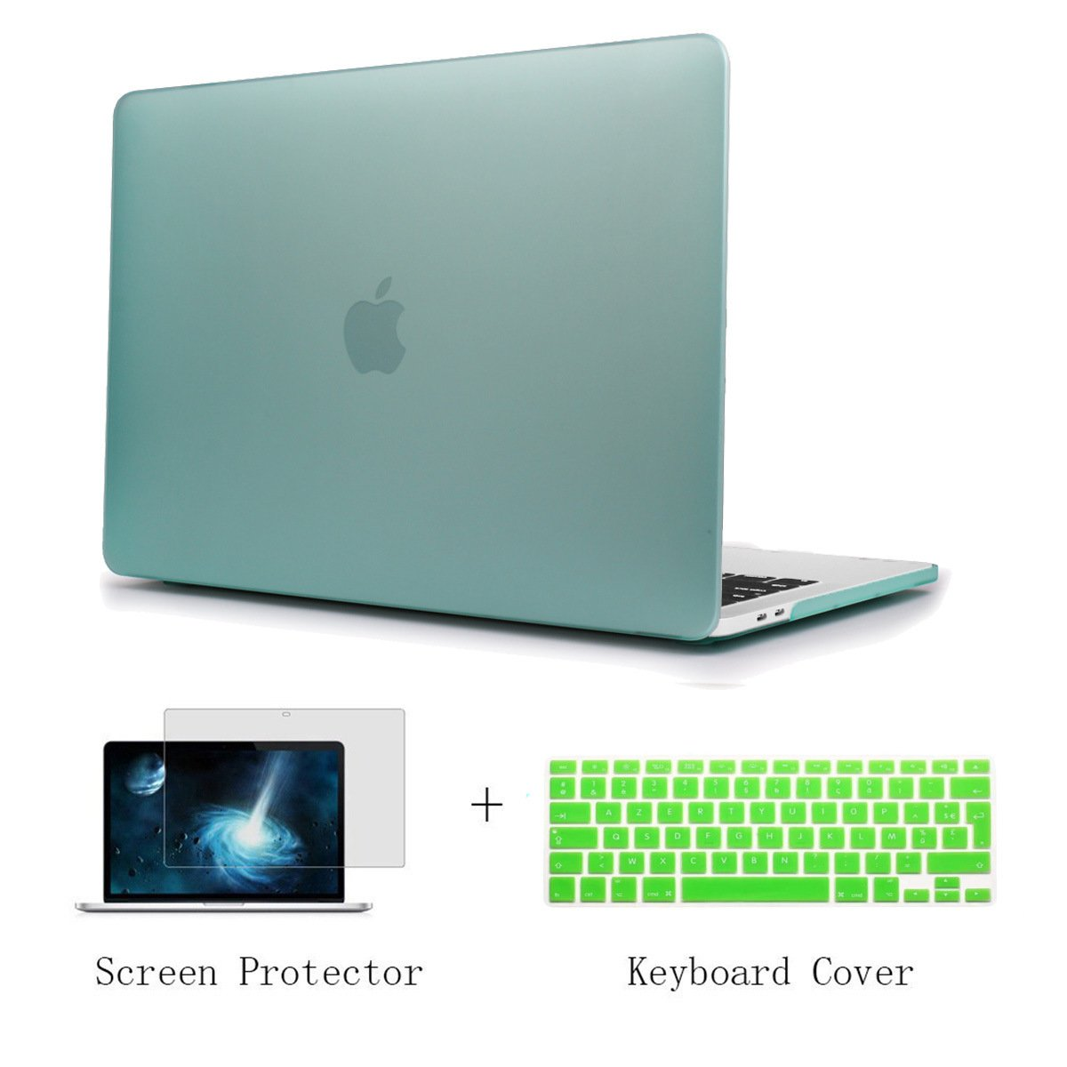 TwoL Coque MacBook Air 13, Coque Rigide Housse avec Clavier Coque de Protection pour MacBook Air 13 Pouces (Mat Transparent)