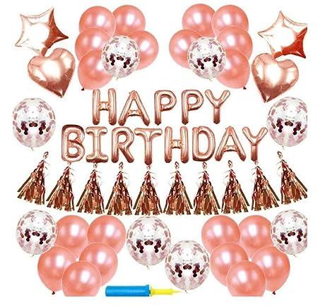 HANJIAJKL 42 Decoraciones de Feliz cumpleaños para niñas y ...
