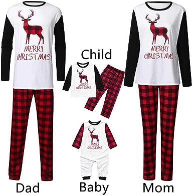 UK Family Christmas Matching Kids Mom Dad Pajamas PJs Sets Sleepwear Nightwear#