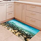 3D non-slip floor surface pvc floor surface wear anti-slip floor decal (120x60cm)