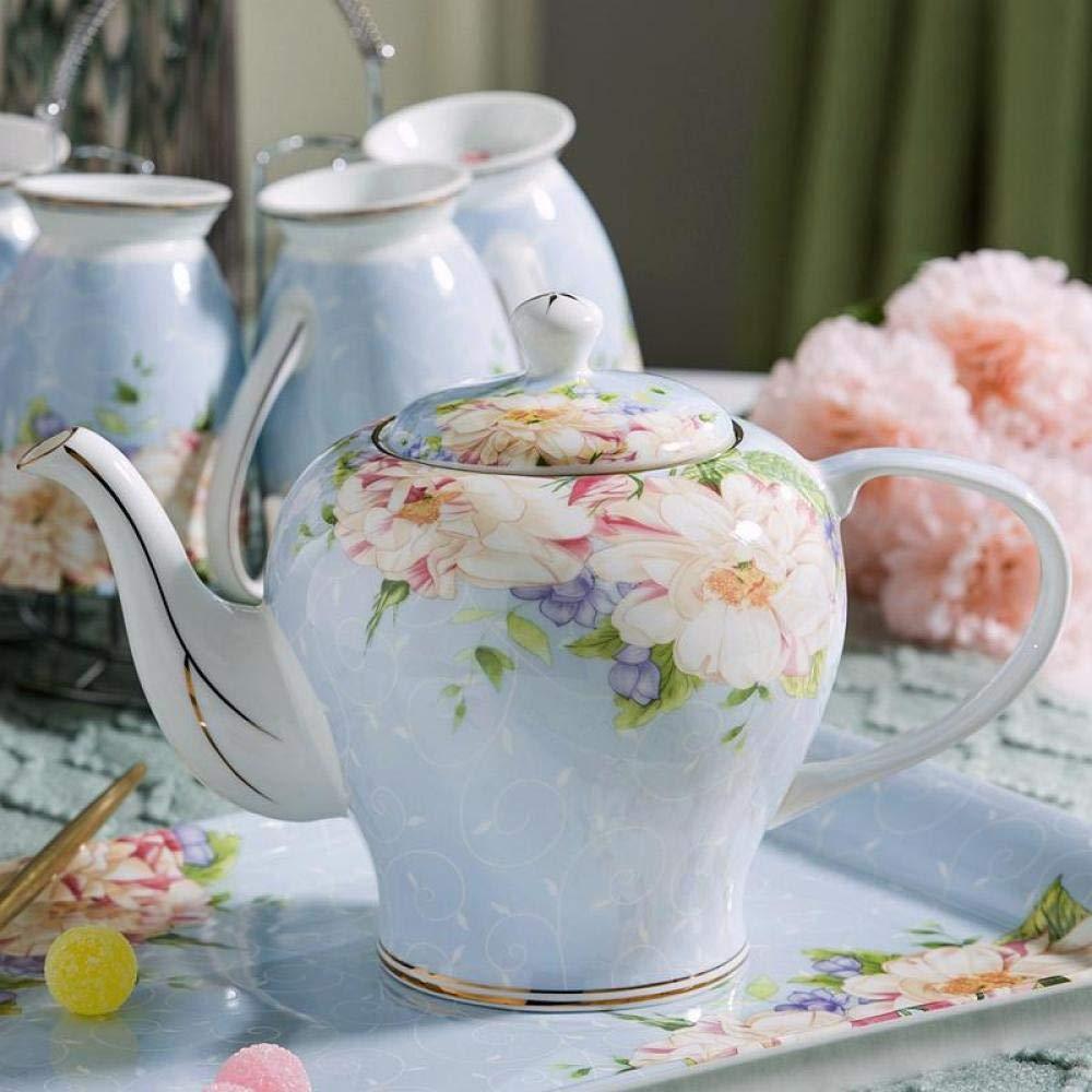 POTOLL Teiera con Filtro Teiera in Ceramica teiera Grande capacità Fiore Filtro teiera Bone China @ b1300ml Prezzi