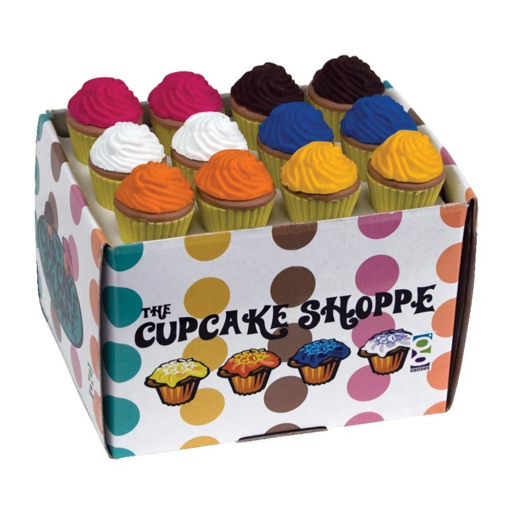 Raymond Geddes Cupcake Shoppe Scented Eraser, 36 Pack (68456)