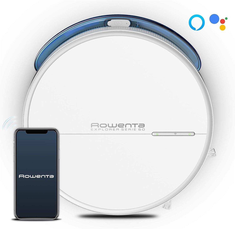 Rowenta Explorer Serie 60 Allergy Care Connect RR7447 - Robot Aspirador fregasuelos, navegación y sistema mapeo permanente y personalizado, Wifi, Alexa y Google Assistant: Amazon.es: Hogar
