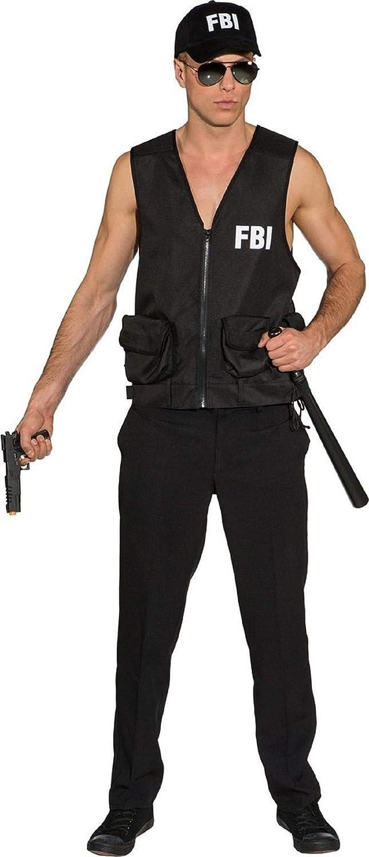 Police Officer Swat Hat FBI Adults Fancy Dress Accessory Mens Ladies New