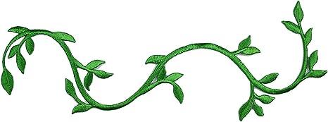 Verde Bordado tallo Vid parche Hierro en apliques Decorativo Por Pieza