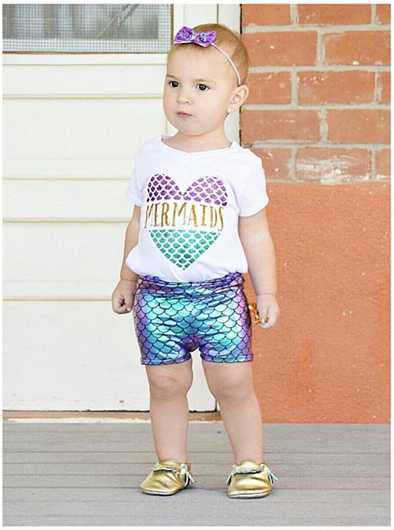 Canis Toddler Baby Girls Fish Scales Shorts