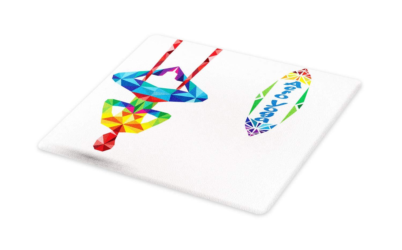 Amazon.com: Ambesonne Yoga Cutting Board, Aerial Aero Anti ...