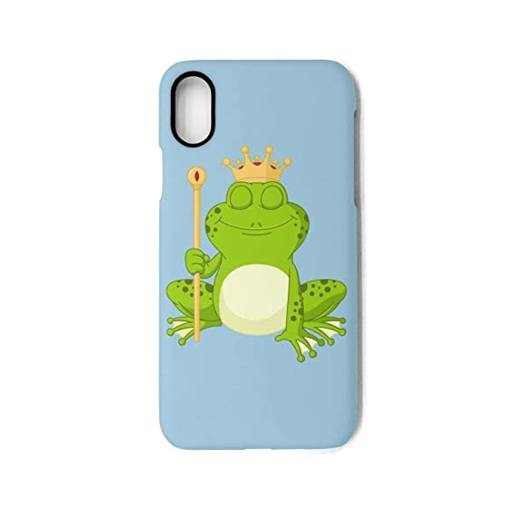 Amazon.com  Phone Case for iPhone Xprince Frog Wearing Crown Best ... 026d3fb1f9