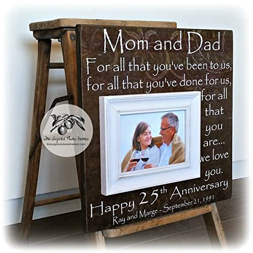 Silver Wedding Gifts For Husband: Amazon.com: 25th Anniversary Gifts For Parents, Silver