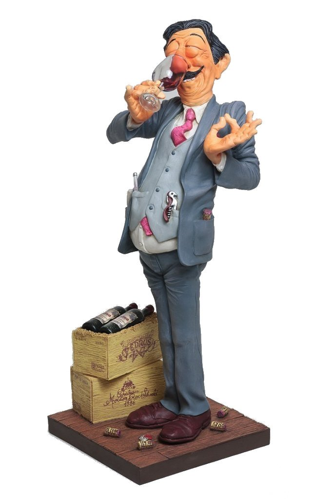 The Wine Taster Figurine Comic Art Of Guillermo Forchino (9 3/8 Inch Tall)