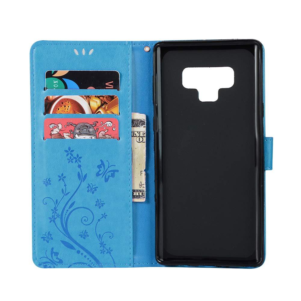 Samsung Galaxy Note 9 Leder Tasche Blau Flip Schutzh/ülle Wallet Case f/ür Samsung Galaxy Note 9 Kartenf/ächer Magnet Flip Wallet Case Huphant Compatible for Samsung Note 9 H/ülle Blau