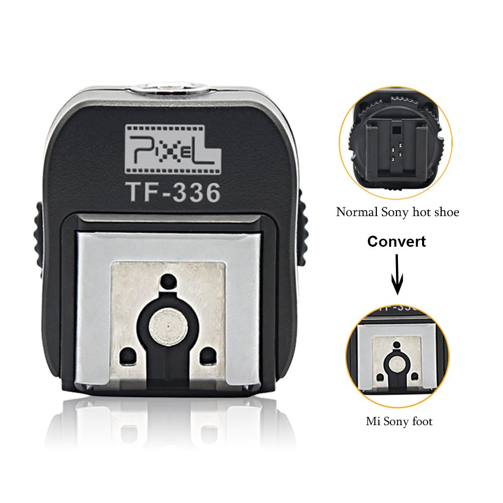 Pixel TF-336 Flash Hot Shoe Adapter to connect sony mi shoe flash speedlite