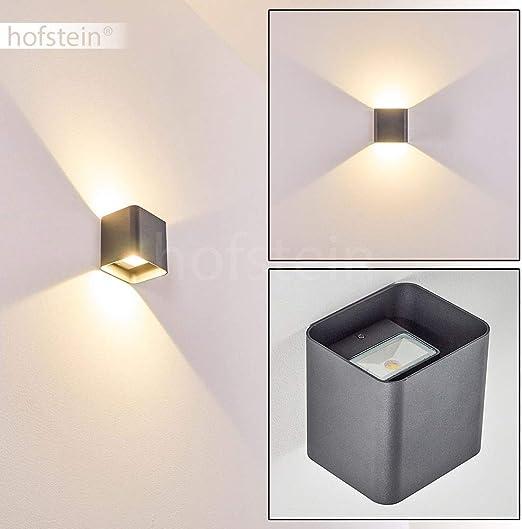 LED auss aplique vikom de metal Antracita – Up/down – Lámpara de pared para veranda – Jardín – Hofmeister – Terraza: Amazon.es: Iluminación