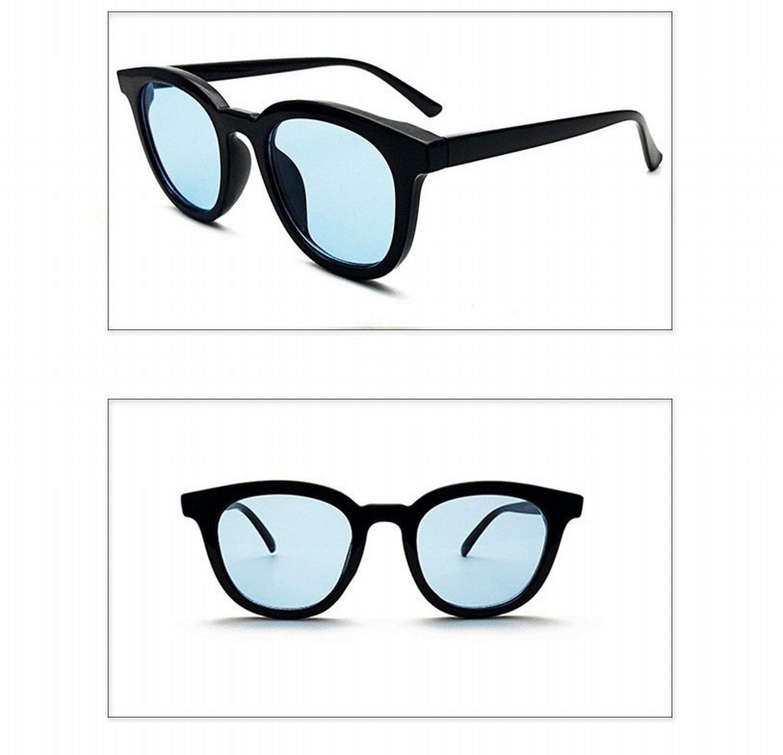 Persönlichkeit Rote Rahmen Sonnenbrille Weibliche Runde Gesicht Sonnenbrille Weibliche Retro Sonnenbrille Weiblich Männlich Meerblau CBp0J