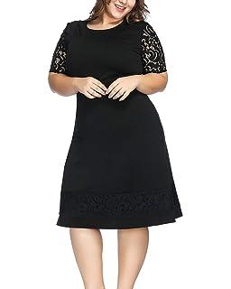e6fca72d17 ABYOXI Damen Vintage Große Größen 50er Retro Rockabilly Kleid Knielang  Abendkleider