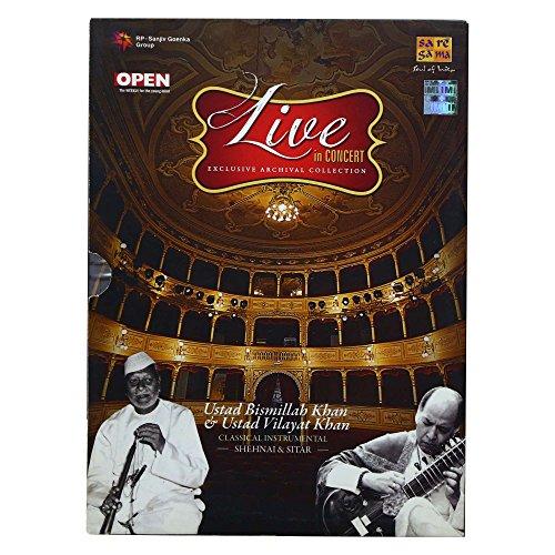 Live In Concert: Ustad Bismillah Khan & Ustad Vilayat Khan (Classical Instrumental): Shehnai and Sitar (Set of 2 Audio CDs) by Saregama (Image #3)
