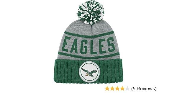 Amazon.com   Philadelphia Eagles High 5 Vintage Cuffed Pom Hat   Sports Fan  Beanies   Sports   Outdoors a7dfb9a47