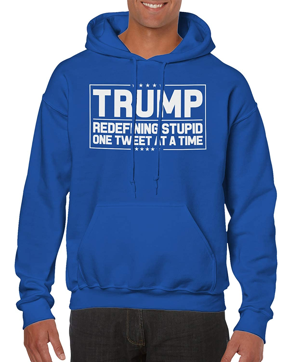 SpiritForged Apparel Trump Redefining Stupid One Tweet at A Time Hooded Sweatshirt