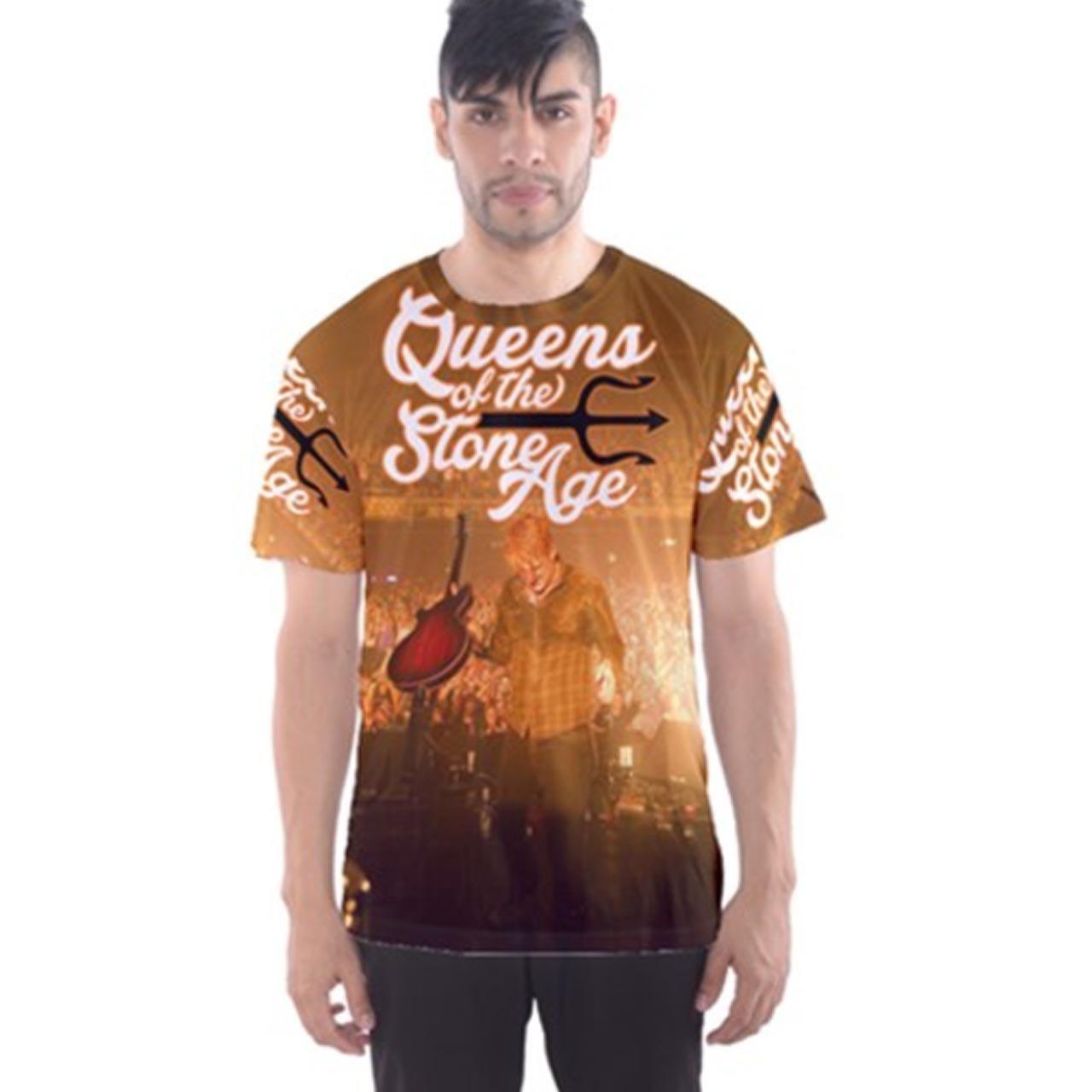 Queens of the Stone AgeメンズTシャツTee Fullprint Tシャツサイズ2 x l   B075TSQSQJ