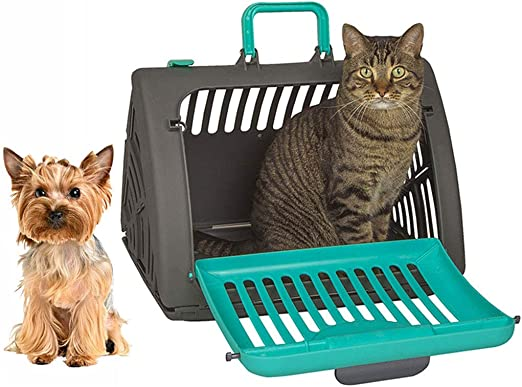 Maimai Pet out Plegable Estuche, Caja de Viaje VIP Jaula para Perros Estuche portátil para Mascotas Estuche para Mascotas Cesta para Gato (Color : Green): Amazon.es: Productos para mascotas