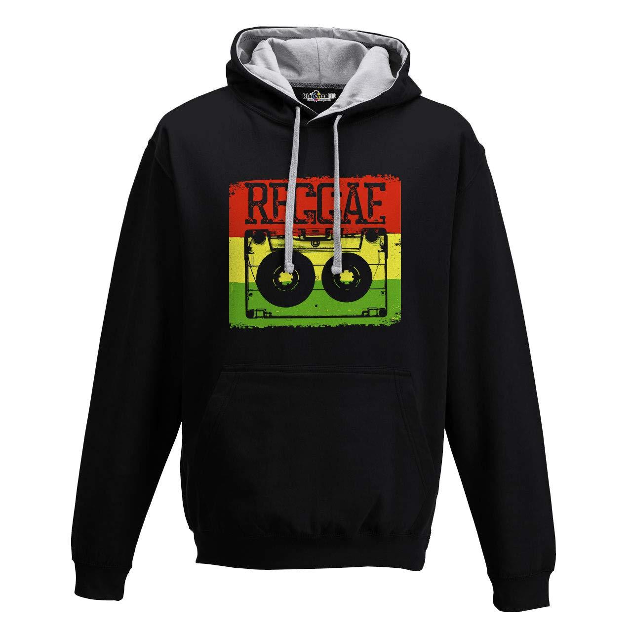 KiarenzaFD Hoodie Bico Music Reggae Peace and Love Jamaica Musicette 80s