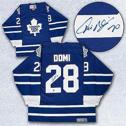 2486af01 Tie Domi Toronto Maple Leafs Autographed Retro CCM Hockey Jersey ...