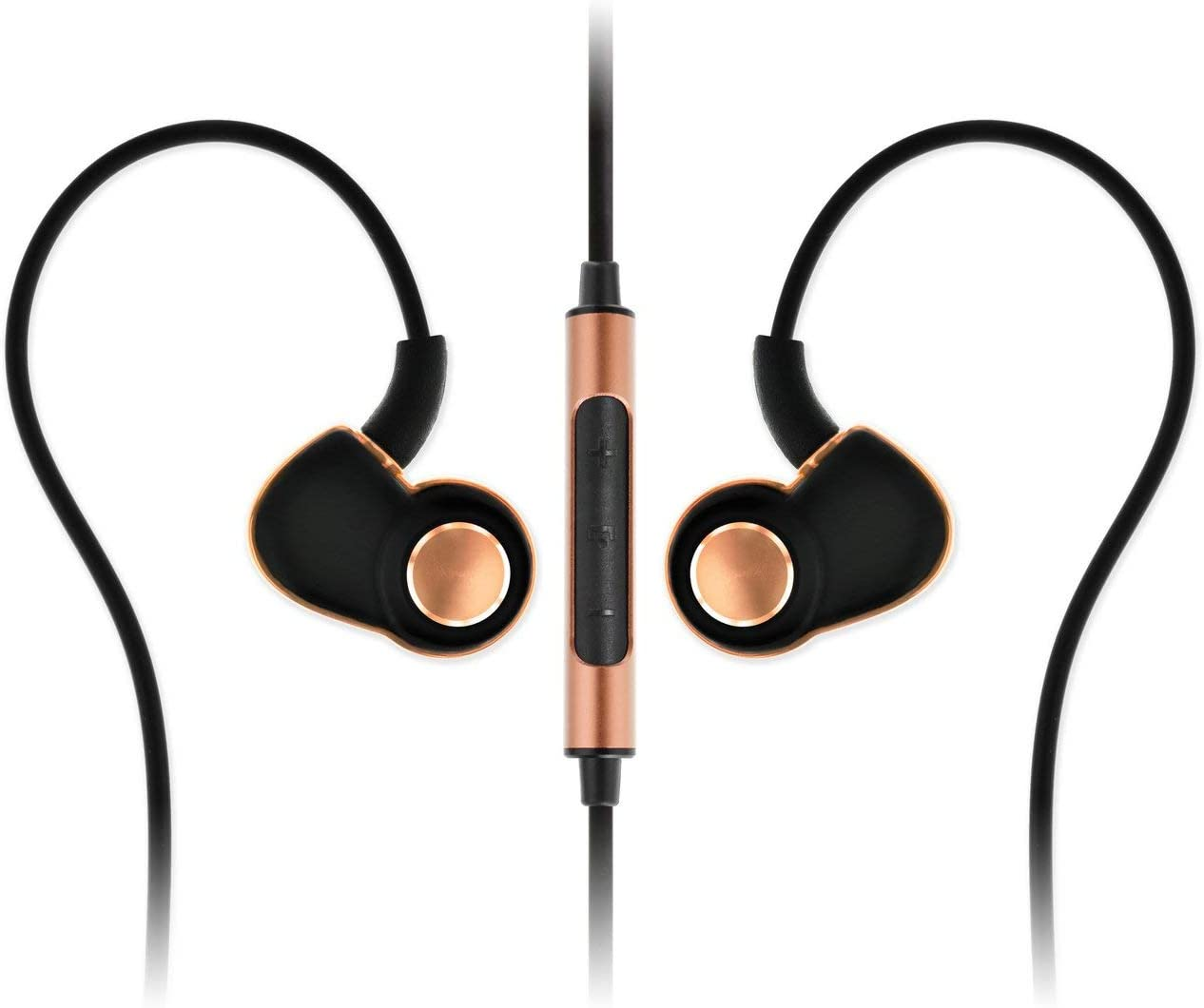 SoundMAGIC PL30 C Active Sport in-Ear Headphones with Microphone and Volume Control Black Gold