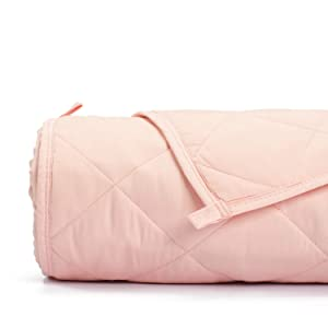 Simple Being Weighted Blanket, 48x72 12lb, Patented 9 Layers Design, Cooling Cotton, Adult Heavy Calming Blanket, Shell Pink