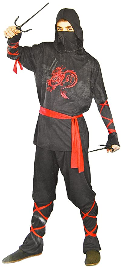 isches Guerrero Ninja Héroes Samurai Disfraz 4 piezas Dragón ...