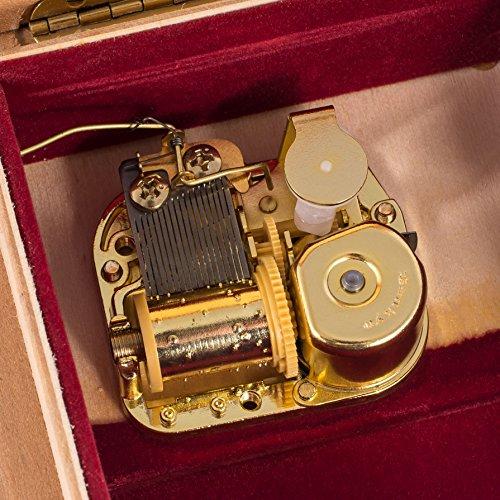 The Swan Lake Op. 20 Ballet Italian Handcrafted Hardwood Jewelry Music Box by Splendid Music Box Co. (Image #6)