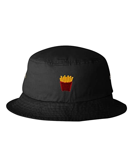 Go All Out One Size Black Adult French Fry Embroidered Bucket Cap Dad Hat 587ecac047f