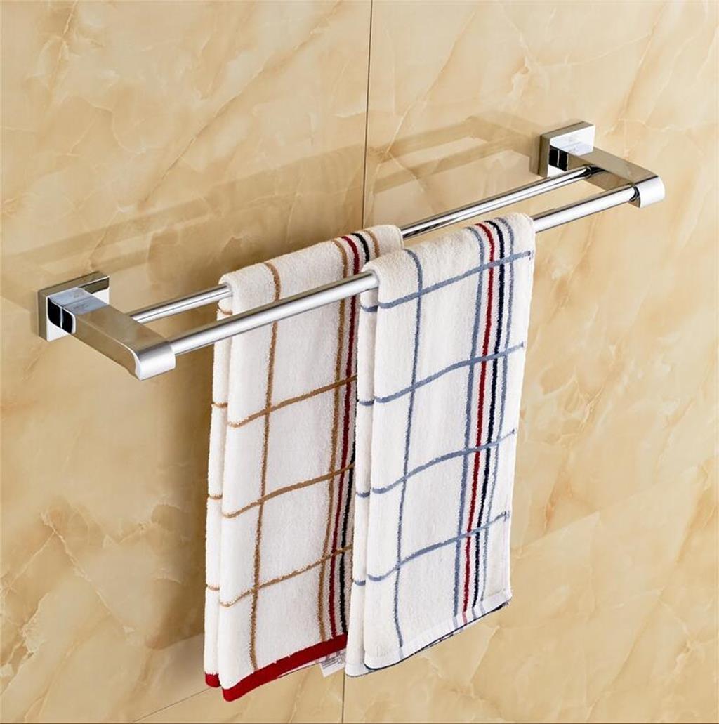バスルームの棚 すべての銅ダブルバータオルラック浴室のタオルバーバスルームの部屋の完全な銅の浴室のハードウェアの付属品 バスルームタオル収納ラック (サイズ さいず : 40 cm 40 cm) B07DBVXKZM 40 cm 40 cm 40 cm 40 cm