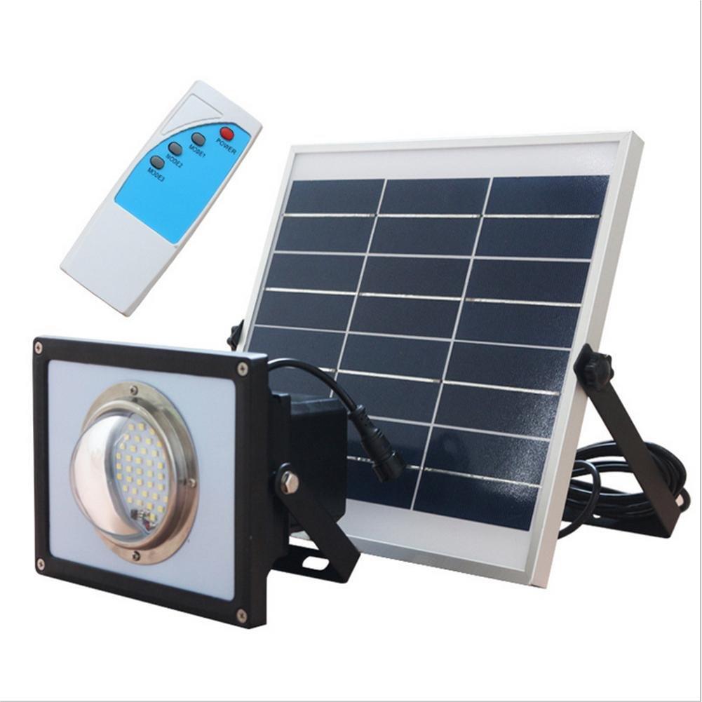 Lh&Fh Solar Outdoor Radar Sensor Spotlights LED Garden Lights Super Bright Waterproof Remote Control Lights by LL Lighting