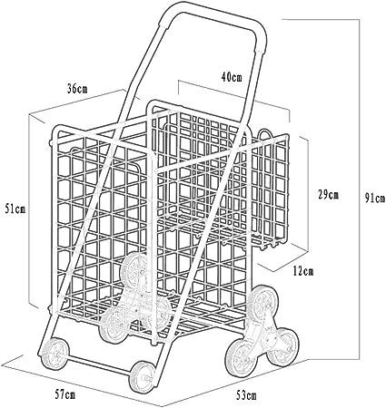 Cesta Doble Plegable Que Sube escaleras Carro Conveniente Gran Capacidad: Amazon.es: Equipaje