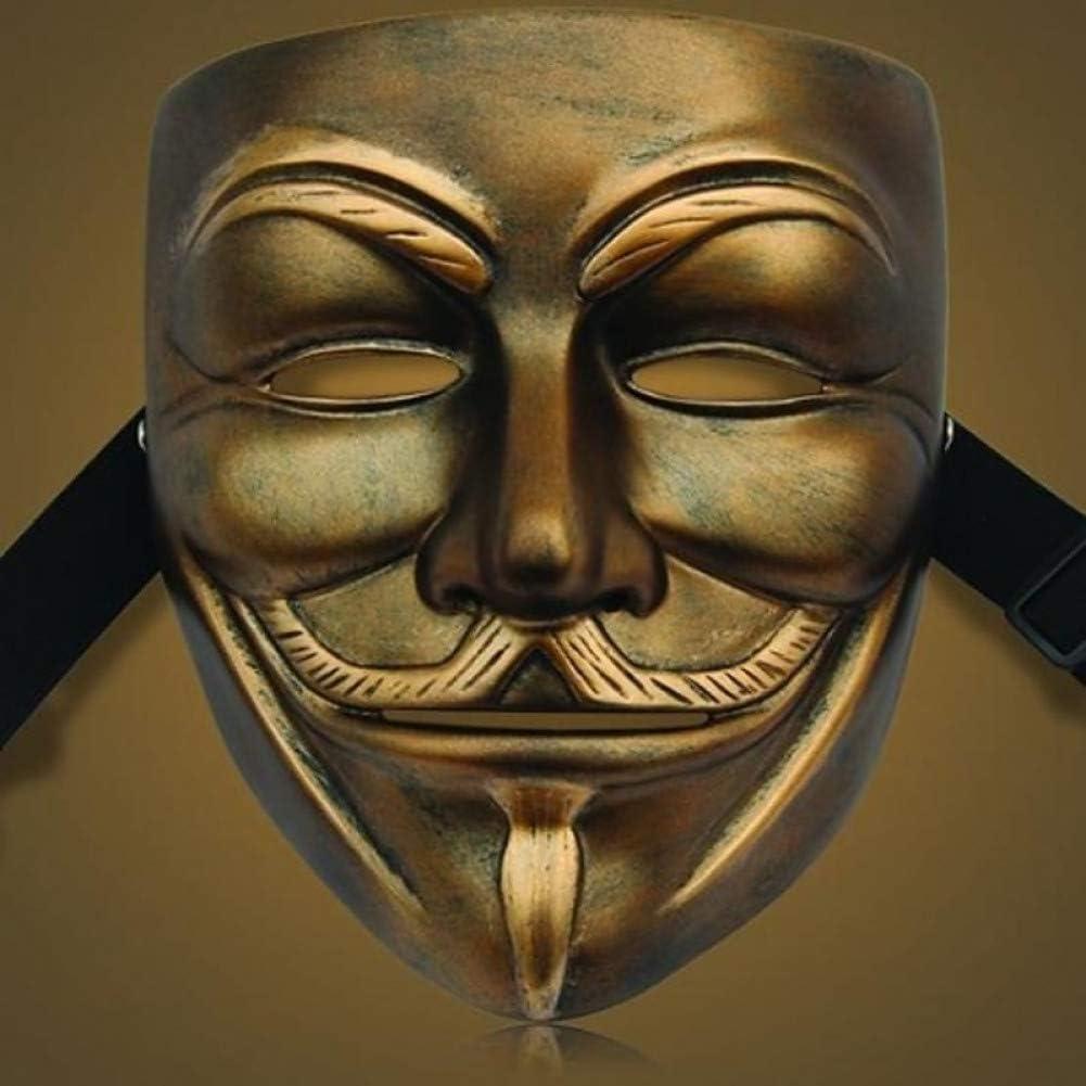 RCFRGV Máscara de Halloween Bronce de Alto Grado V paramáscara de Resina de Venganza para Fiesta de Halloween