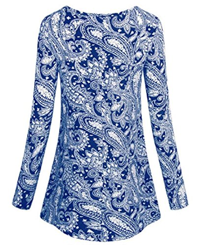 Metà Orlo Classico Sexy Stampato A Blu Moda Coolred Grande Vestito donne Lunghezza qFvpBv