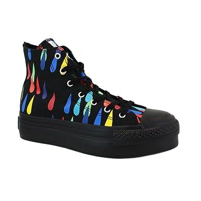 7cbc882e8c2 Converse x Marimekko Chuck Taylor All Star Hi Platform 139965C Womens Laced  Canvas Trainers Black Multicolour - 7  Amazon.co.uk  Shoes   Bags