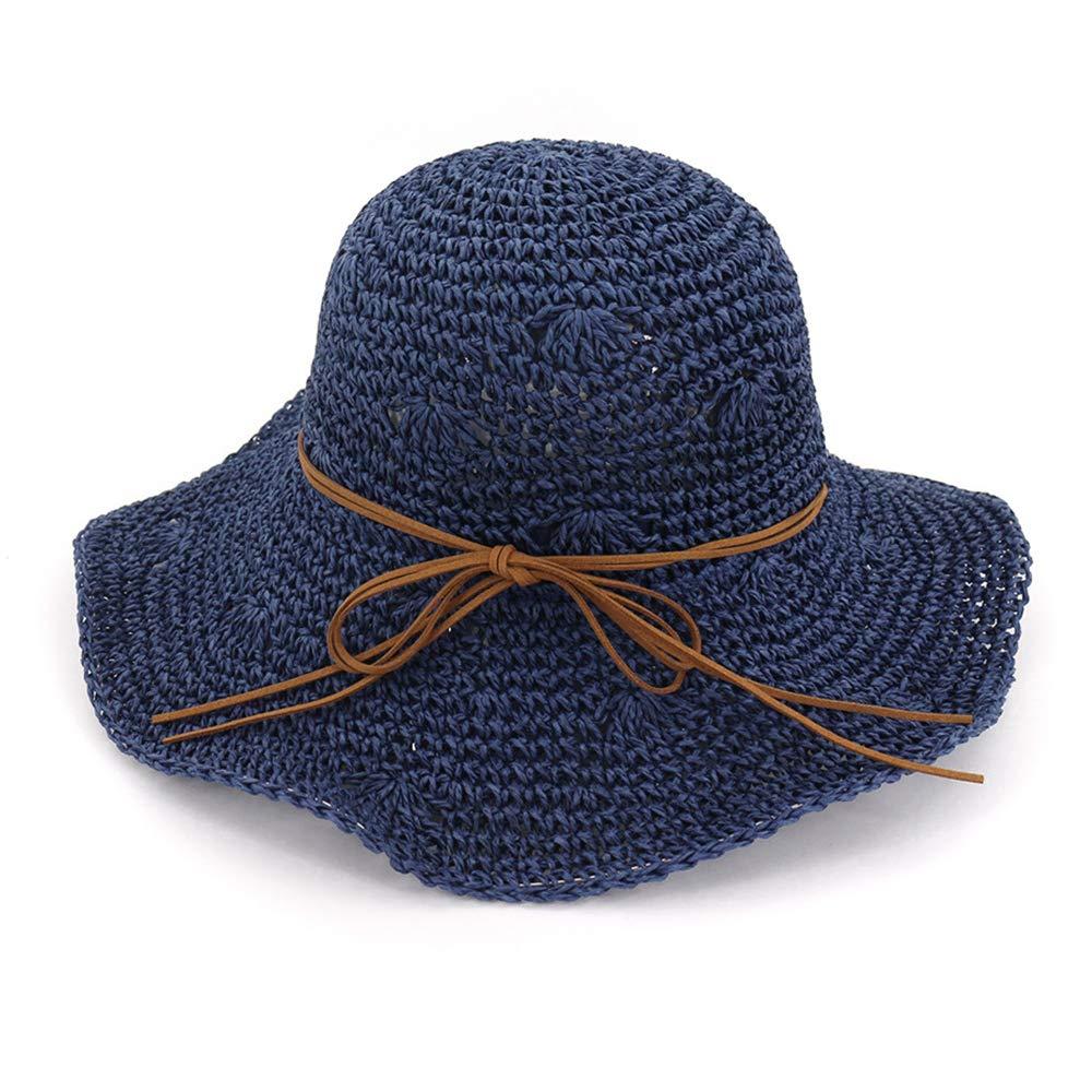 6483052d2 QTKJ Fashion Women's Summer Beach Sun Floppy Straw Hat Hollow ...