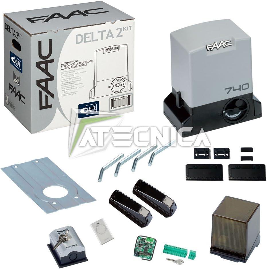 FAAC Delta 2 Kit Safe 1056303445 Kit pour automatisation de portail coulissant, 500 kg, 230 V: Amazon.es: Deportes y aire libre