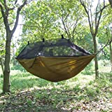 Generic Imported Travel Outdoor Camping Tent Hanging Hammock Sleeping Bed 300 X 140 Cm -Brown
