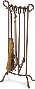 """Pilgrim Home and Hearth 18013 Bowed Fireplace Tool Set, 31"""" H/16 Lb, Burnished Bronze"""