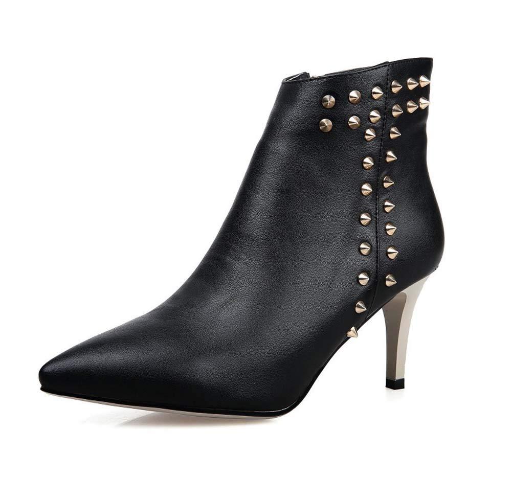 GHFJDO Frauen Ankle Stiefel mit Kitten Heel Pointed Toe All Match Working Stiefel Fashion Ladies