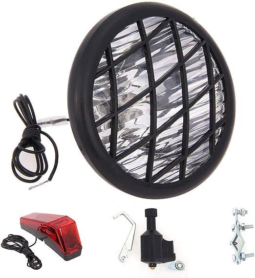 HOMYY - Juego de lámparas para Bicicleta (6 V, 3 W, luz Trasera ...
