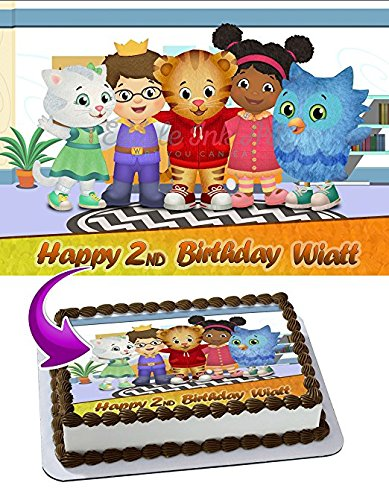 Daniel Tiger's Neighborhood Edible Cake Topper Personalized Icing Sugar Paper A4 Sheet Birthday party Cake Decoration Edible Image