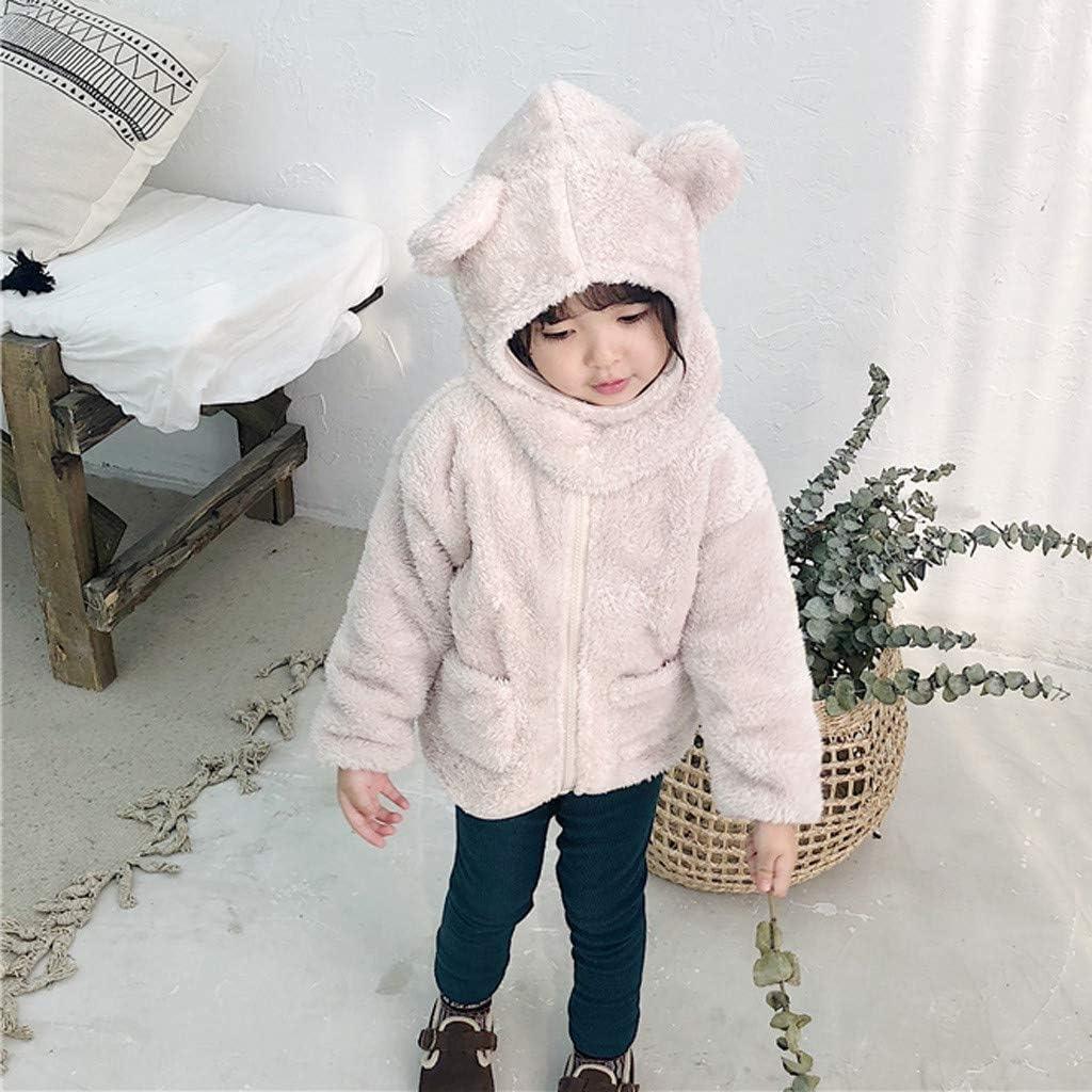 95sCloud Chaqueta de Exterior Abrigo de Invierno con Forro Polar Parka para ni/ños Abrigo de Invierno con Capucha para ni/ño Unisex Ultra c/álido Manga Larga