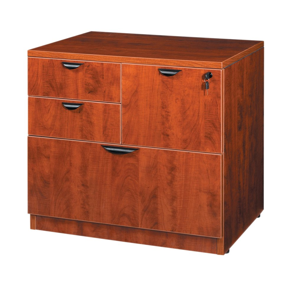 Amazon.com: Boss Office Products N114 C Combo Lateral File In Cherry:  Kitchen U0026 Dining